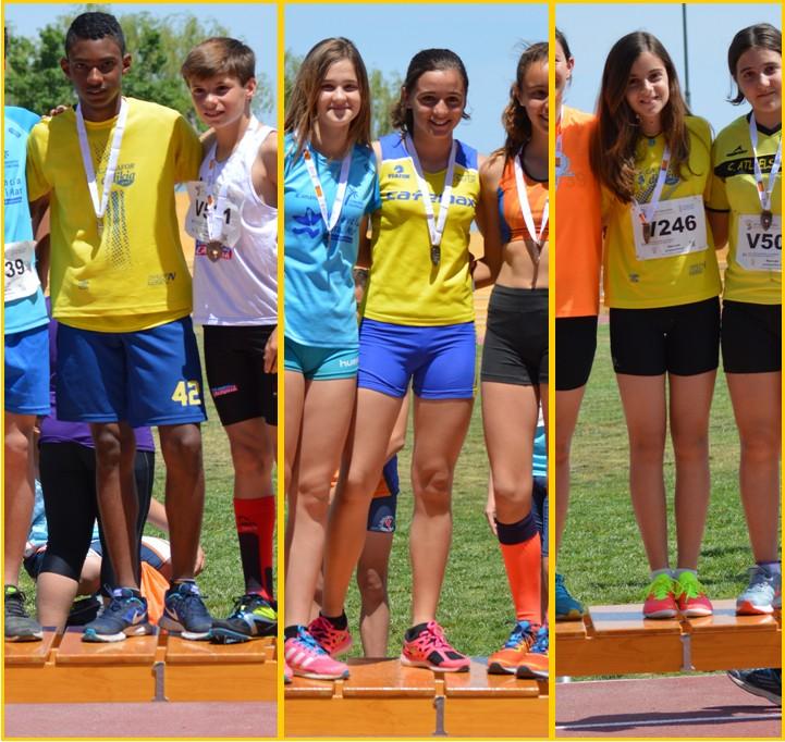 Josuer Armando Rosero, Claudia Martinez y Mireia Juan, campions Provincials.