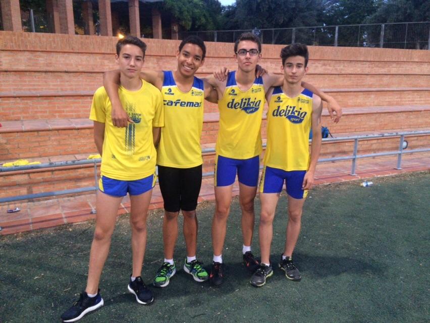 Relleu 4x100 cadet: Alex Meri, Ivan Duarte, Trinitario Pons i Bernat Perez.