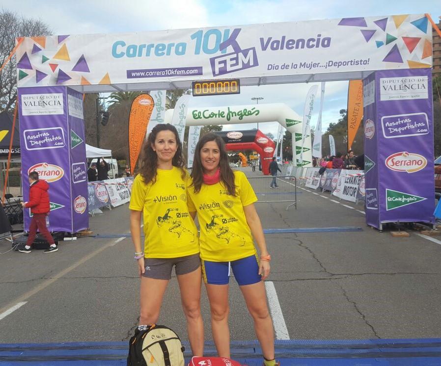 Amparo Villar i Maria Boscà a la Cursa 10K Fem de València.