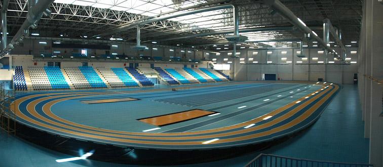 Pista indoor del Centre de Tecnificació d'Atletisme d'Antequera.