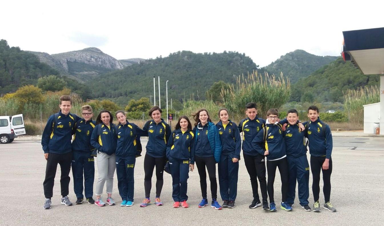Els atletes U16 que van participar a l'interprovincial de Múrcia.