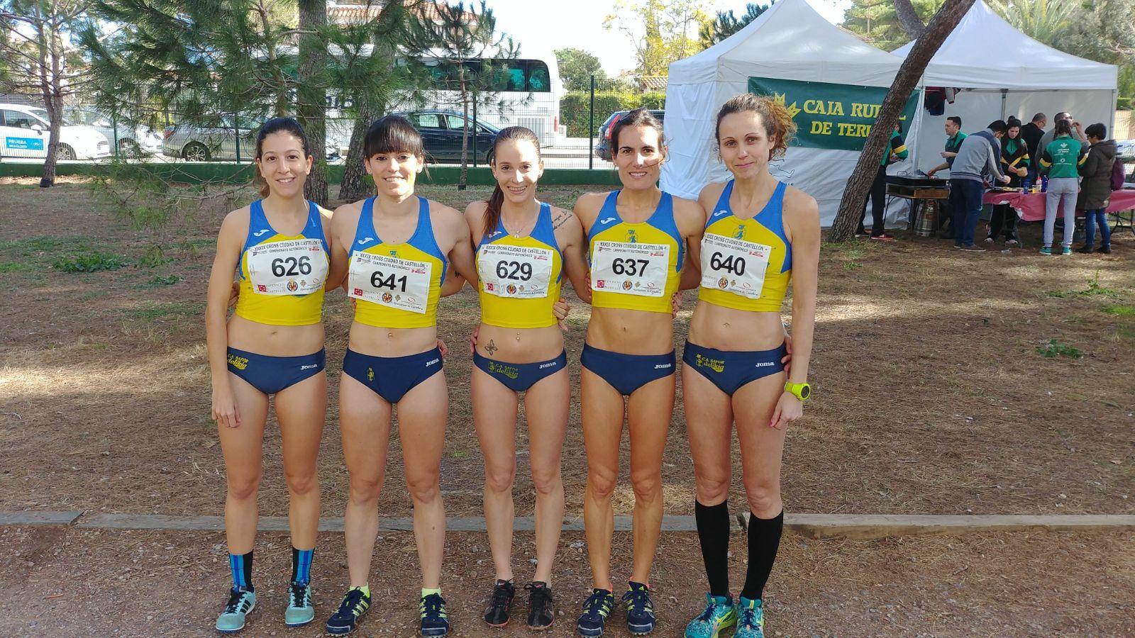 L'equip absolut femení de cross que va aconseguir el títol autonòmic a Castelló.
