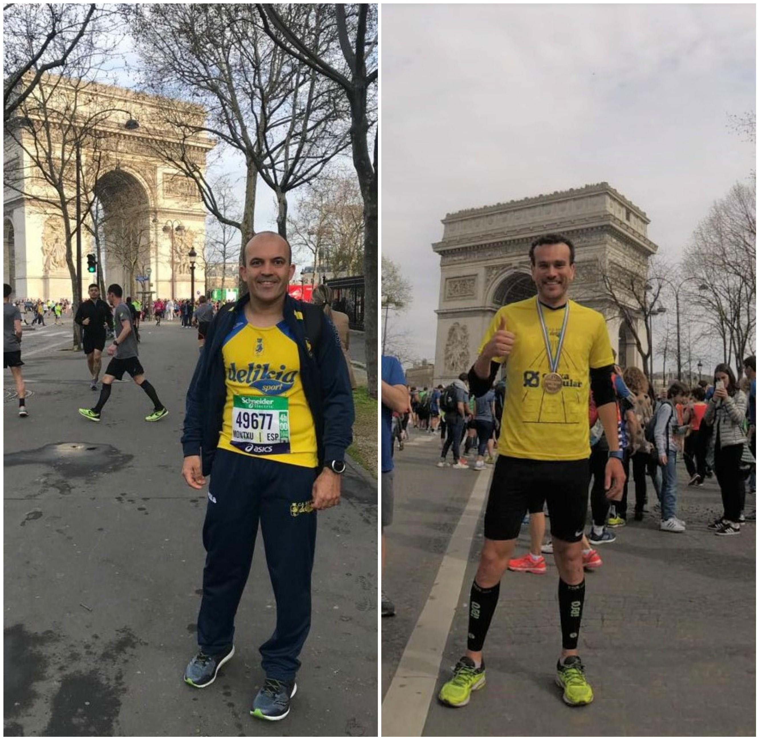 Fernando Moncho i Lauren Barrios, a la marató de París.