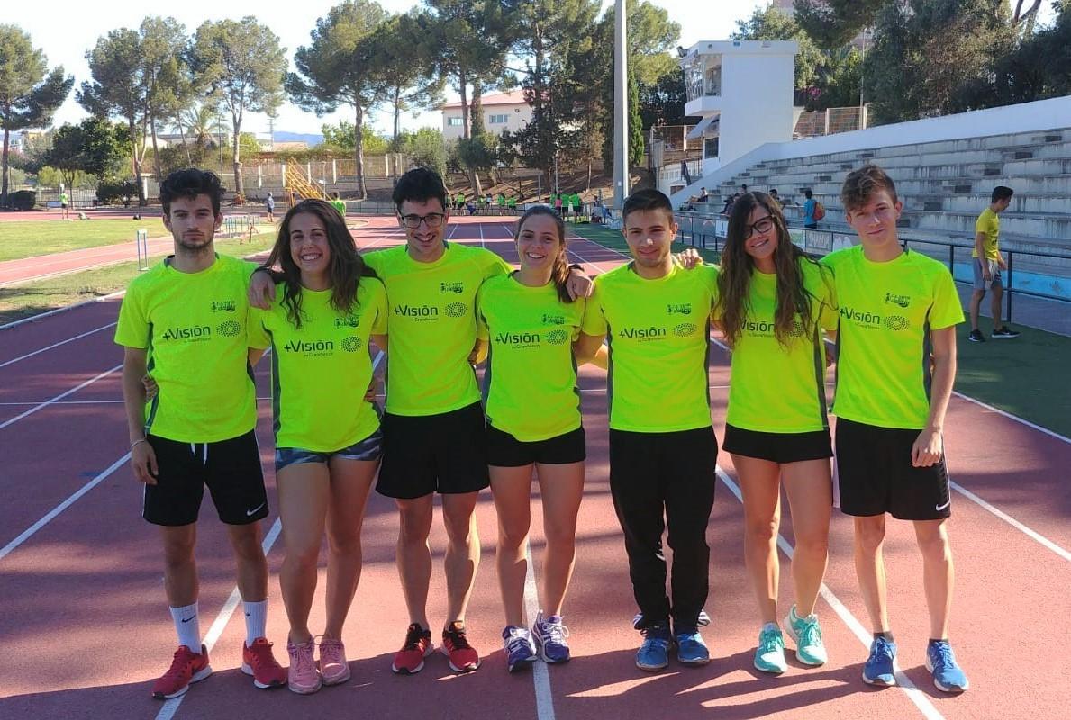 D'esquerra a dreta Bernat Pérez, María Pérez, Alejandro Martínez, Aina Olaso, Arturo Climent, Maria Evangelista i Jorge Boscà.