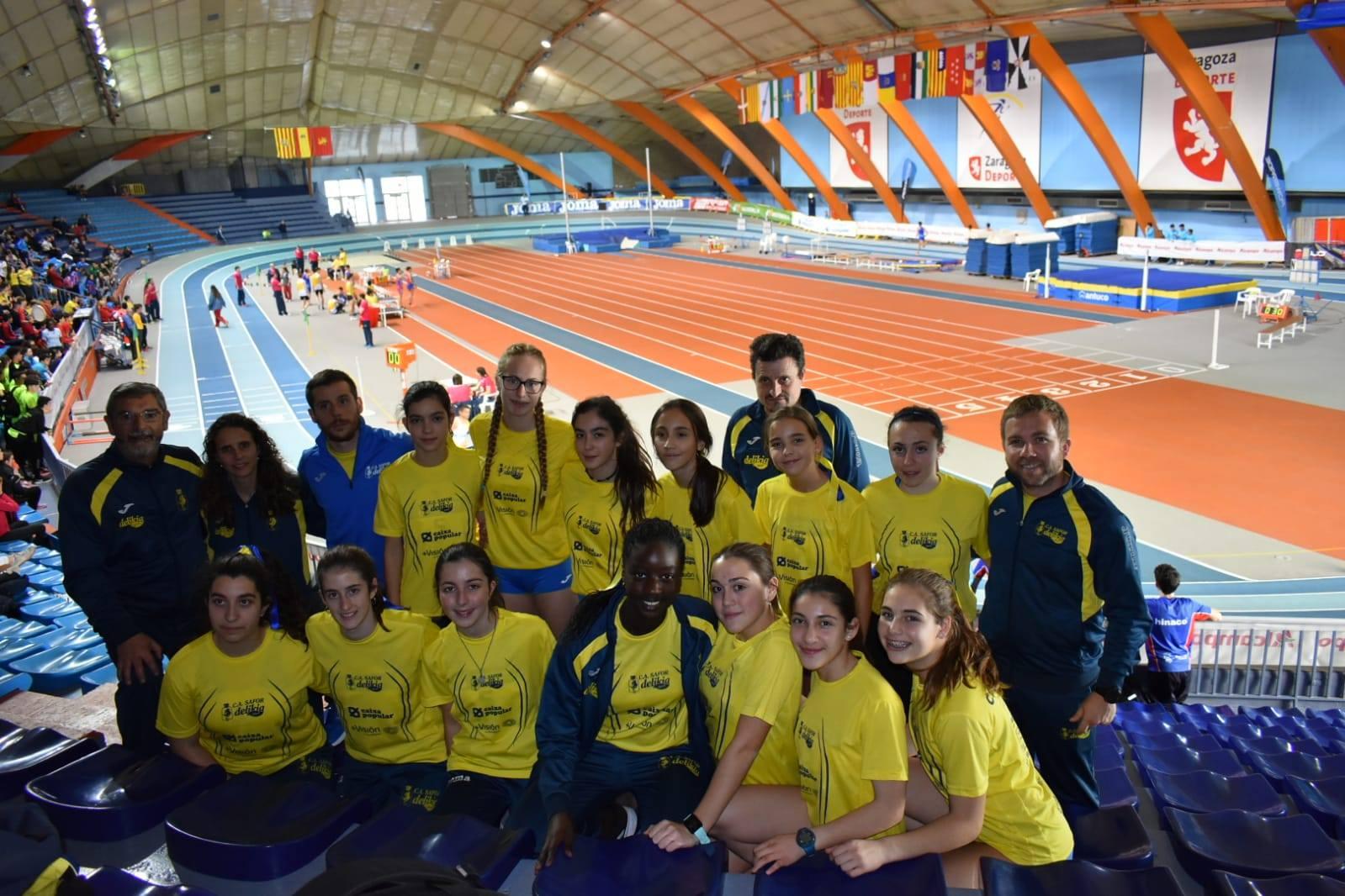 Les xiques cadets del CA Safor Teika competeixen en el Campionat d'Espanya per Clubs