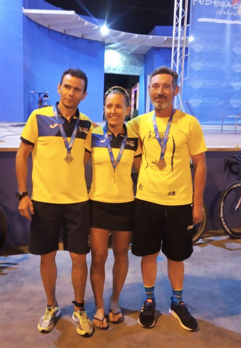 El club va estar en els triatlons de Canet d'en Berenguer i Formentera