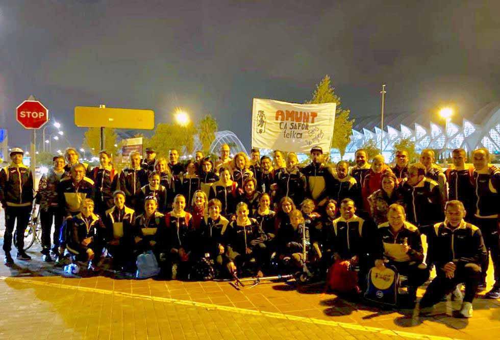 El club va participar amb 43 corredors a la Marató de València Trinidad Alfonso EDP