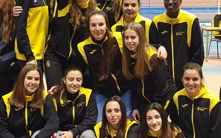 Les xiques queden terceres en el campionat autonòmic absolut per clubs baix sostre