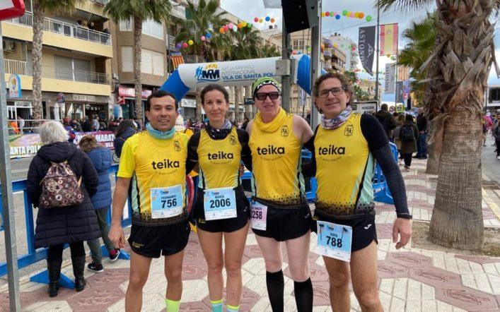 El club va estar en el Trail de Barxeta i en la Mitja Marató de Santa Pola