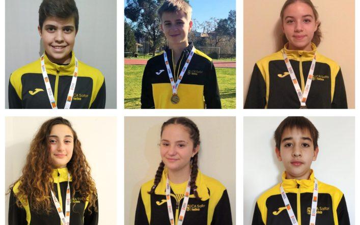 Onze medalles en el campionat provincial de llançaments llargs d'hivern