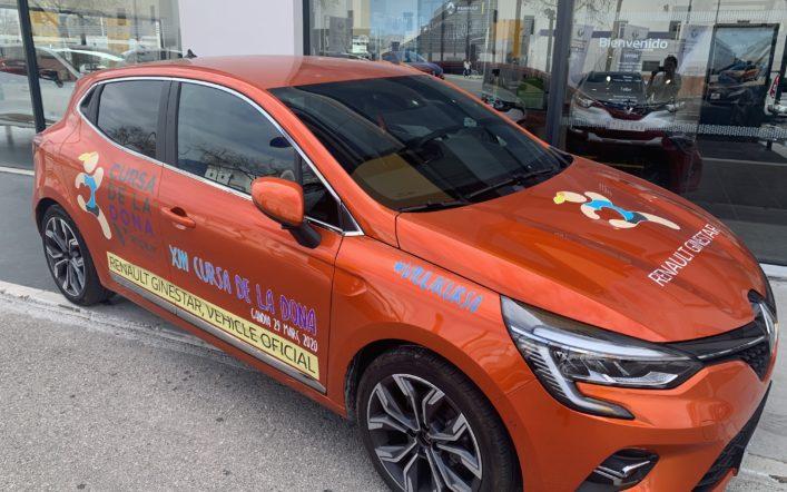 El nuevo Renault Clio es el coche oficial de la XIII Cursa de la Dona Vicky Foods