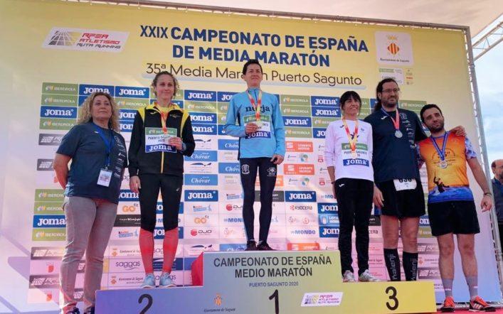Pilar Rubio es proclama subcampiona d'Espanya màster en mitja marató