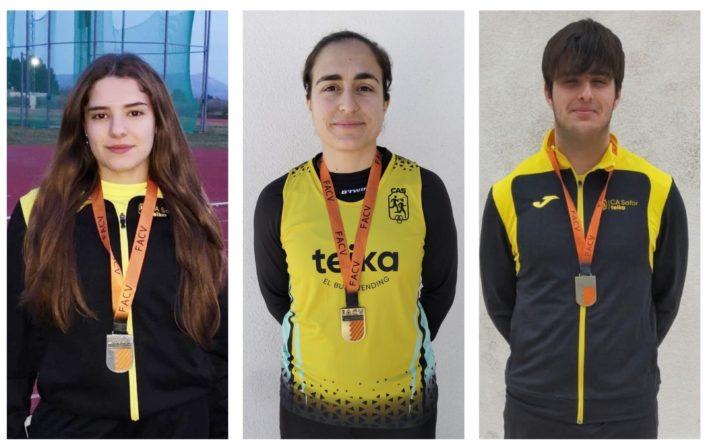 Set medalles en el Campionat Autonòmic de Llançaments Llargs d'Hivern