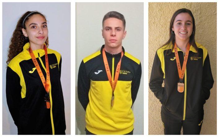 Quatre medalles en el Campionat Autonòmic Individual Absolut en Pista Coberta