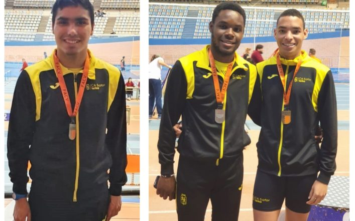 Huit medalles en l'autonòmic individual promesa en pista coberta