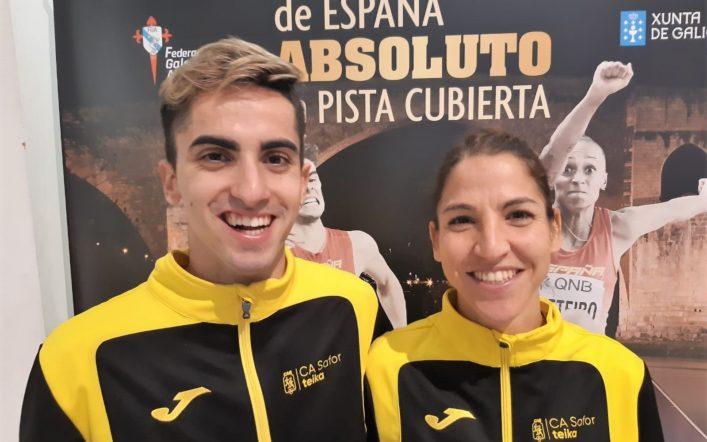 Fran Vilches i Marian Ruiz competiren en el Campionat d'Espanya Absolut d'Atletisme en Pista Coberta