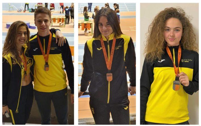 Deu medalles en l'autonòmic individual júnior en pista coberta