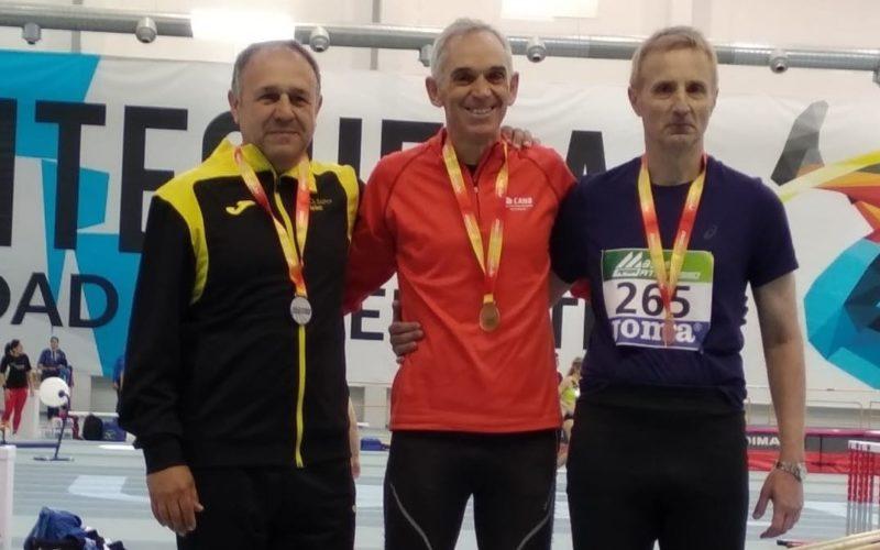 Dues medalles per a Andreu Morant en el Campionat d'Espanya Màster en Pista Coberta