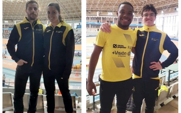 Claudia Martínez i Nicolás Blasco, finalistes en el Campionat d'Espanya Juvenil baix sostre