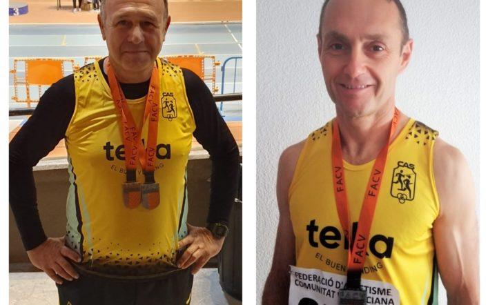 Tres medalles en l'autonòmic màster en pista coberta