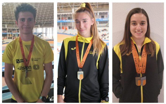 Set medalles en l'autonòmic individual juvenil en pista coberta