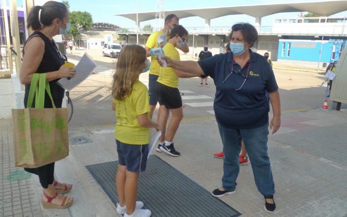 L'escola del club comença amb totes les mesures de seguretat davant del coronavirus