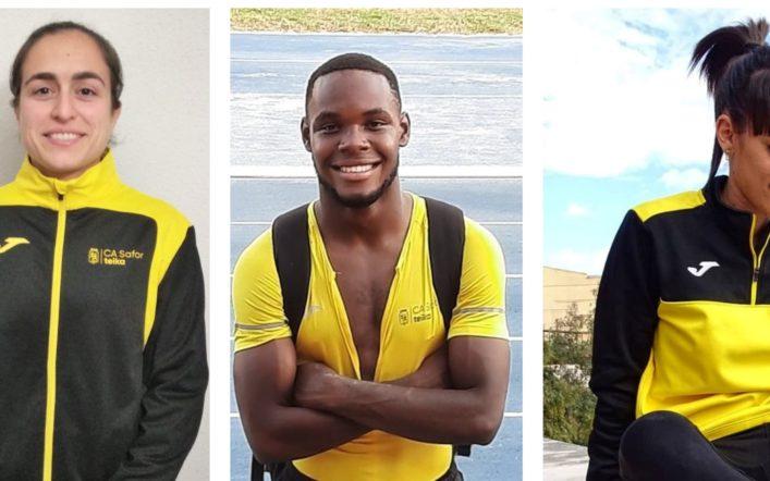 Tres atletes defensaran el color groc en el Campionat d'Espanya Absolut