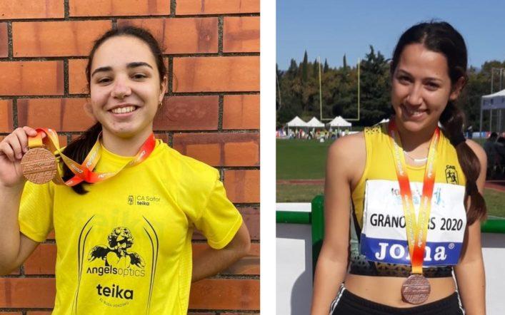 Dues medalles de bronze en el Campionat d'Espanya Cadet a l'Aire Lliure