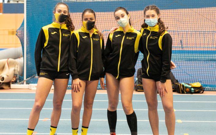 Les xiques cadet queden terceres en el campionat provincial per equips
