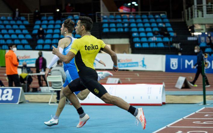 Mehdi Messadi queda sisé d'Espanya cadet en la final dels 60 m.l.