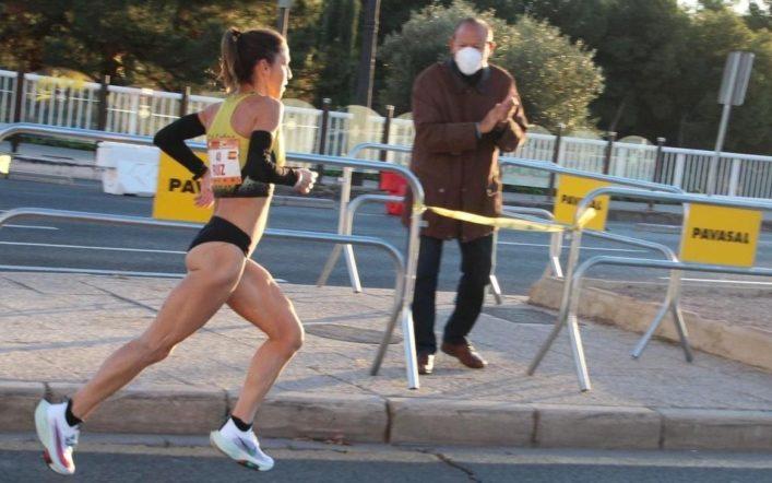 Marian Ruiz va ser l'única representant del club en la Mitja Marató de València
