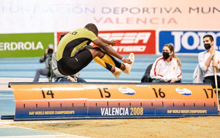 Alberto de Oliveira queda tercer en el triple salt en el Campionat d'Espanya Individual Promesa