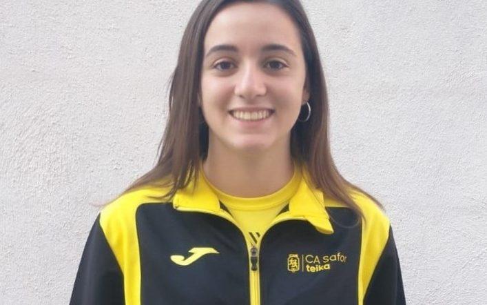 Claudia Martínez competeix este cap de setmana en el nacional júnior en pista coberta