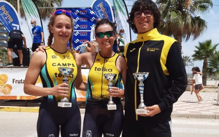 Jhoel Faus guanya el Triatló de la Platja de Tavernes en categoria absoluta masculina i Marina Camps queda segona en la femenina