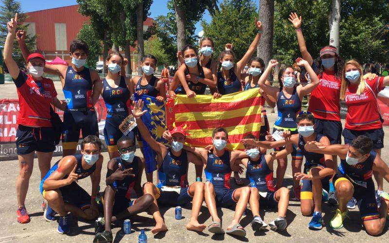 Xavi Cabanilles va competir amb la selecció valenciana en el Campionat d'Espanya de Triatló Escolar per Autonomies